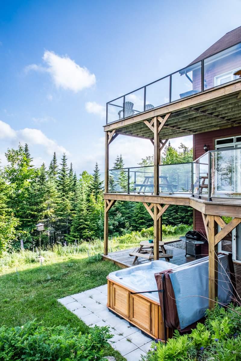 Condo Ski Nature Top floor + Hot tub | Cottage rental Charlevoix