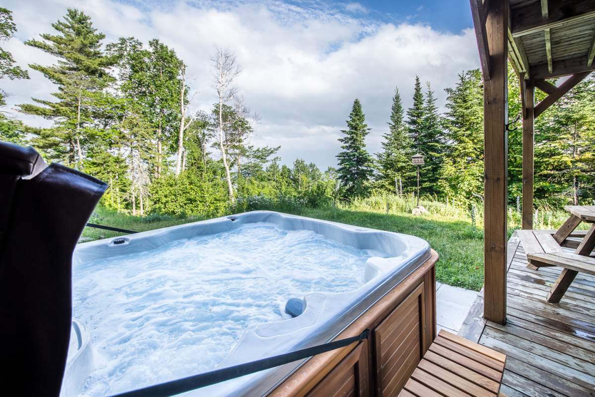 Condo Ski Nature Mid level + Hot tub | Cottage rental Charlevoix