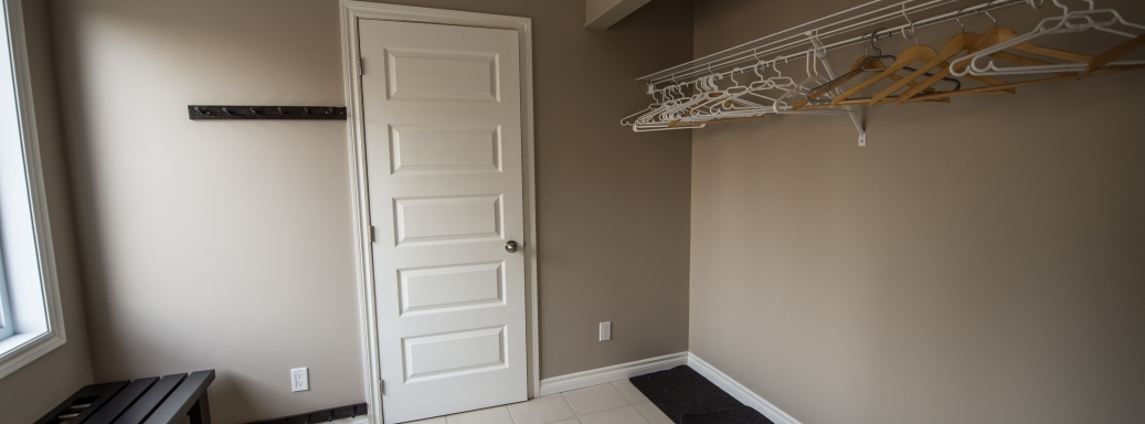 Mudroom for skiing and outdoor equipment