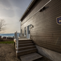 entrance chalet Haut-perché to rent in charlevoix