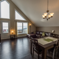 living area renting condo in charlevoix