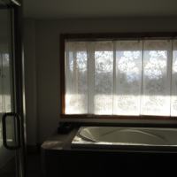 Bathroom no 1 ,( view of st-laurent river and massif)
